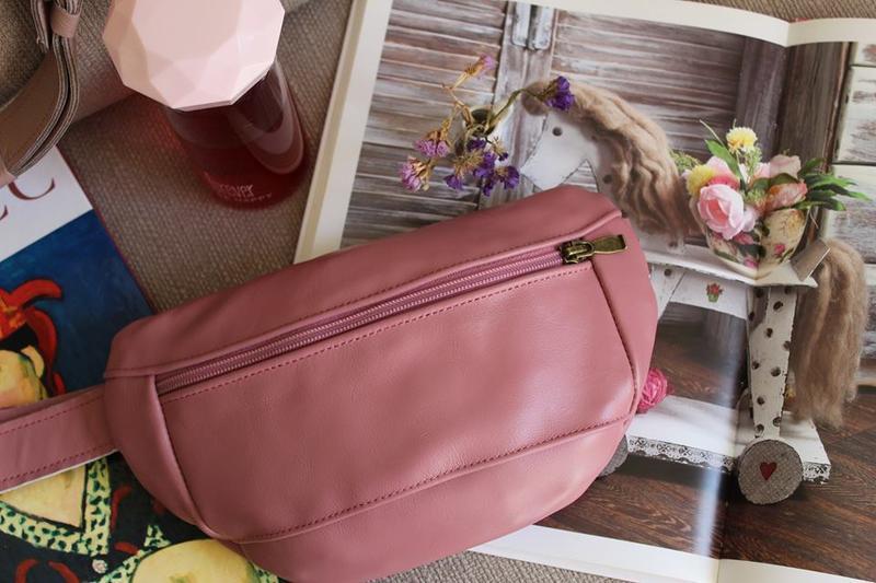 Поясная сумка 051 pink. натуральная кожа. ручная работа.