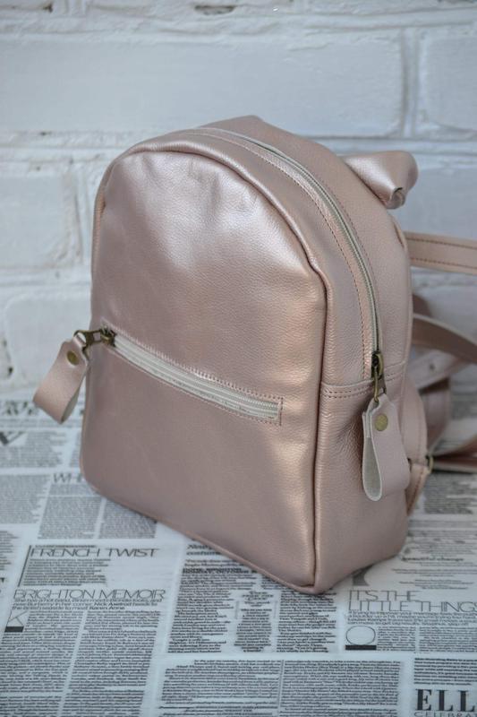 """Рюкзак из натуральной кожи """"мими"""" бронза. натуральная кожа ."""