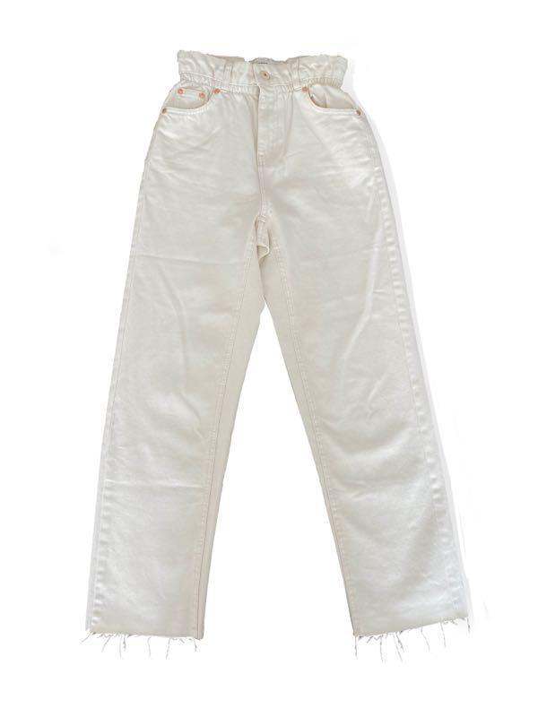 Белые прямые джинсы Bershka - Фото 2