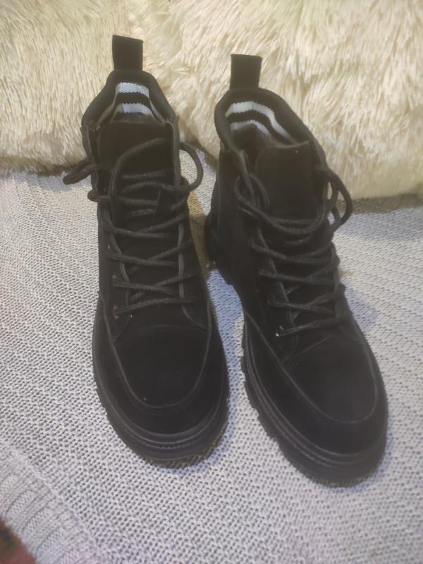 Ботинки замшевые - Фото 3