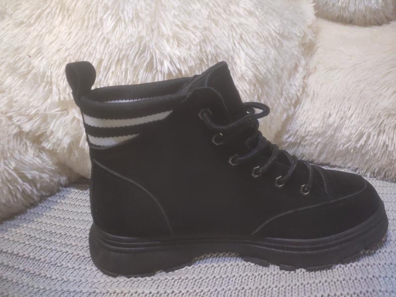 Ботинки замшевые - Фото 4