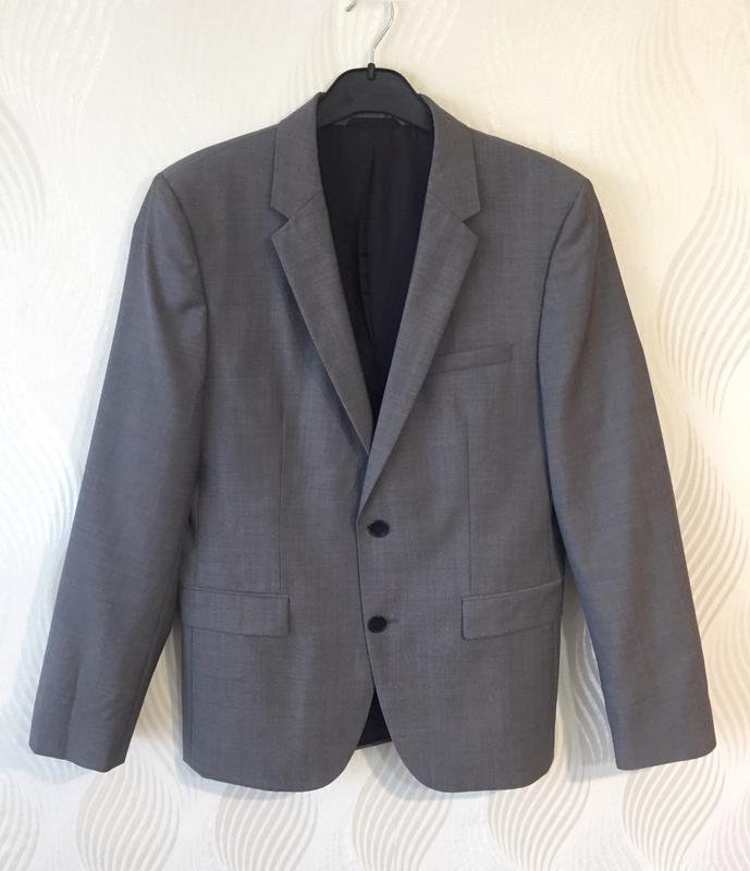 Мужской пиджак шерстяной hugo boss - Фото 2