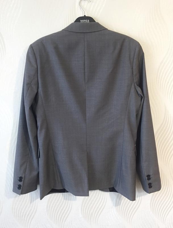 Мужской пиджак шерстяной hugo boss - Фото 3