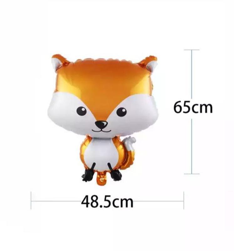 Фольгированный шарик лиса, лисичка.