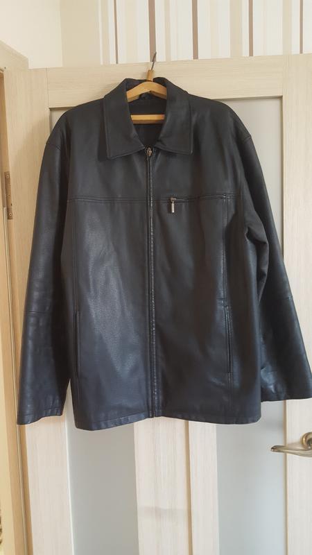 Чоловіча шкіряна куртка / мужская кожаная куртка - Фото 2