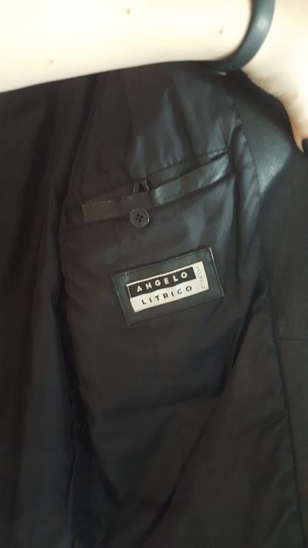 Чоловіча шкіряна куртка / мужская кожаная куртка - Фото 3