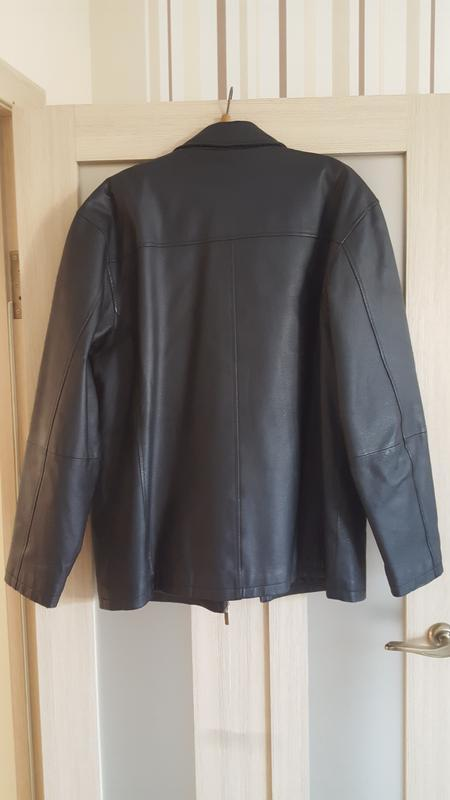 Чоловіча шкіряна куртка / мужская кожаная куртка - Фото 4