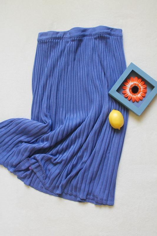 Стильная трикотажная миди юбка, размер 2xl-3xl