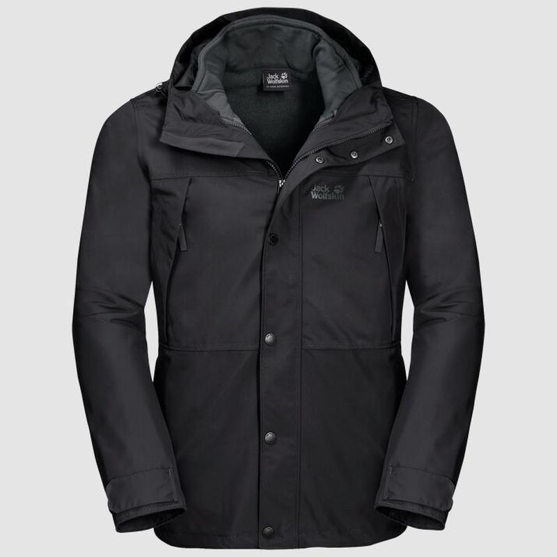 Куртка 3 в 1 west harbour jacket jack wolfskin - Фото 2
