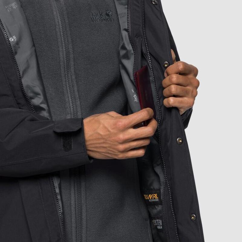 Куртка 3 в 1 west harbour jacket jack wolfskin - Фото 3