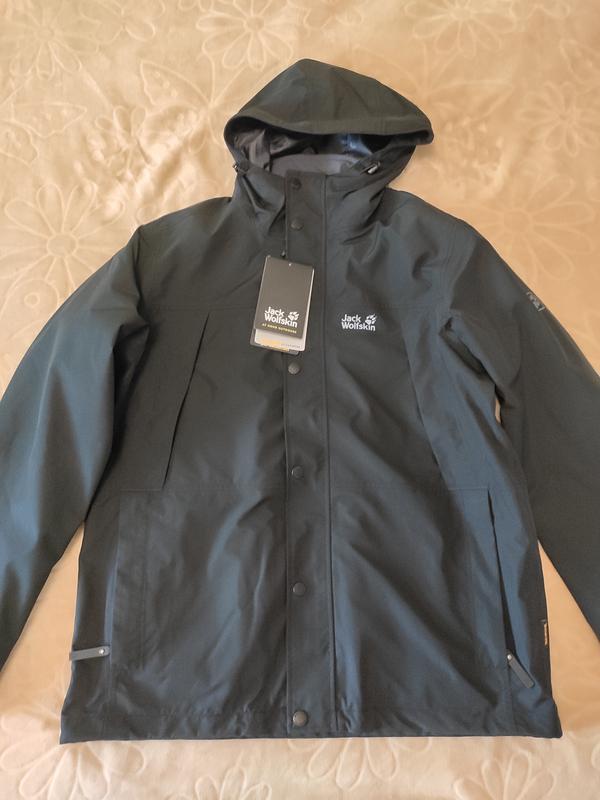 Куртка 3 в 1 west harbour jacket jack wolfskin - Фото 10