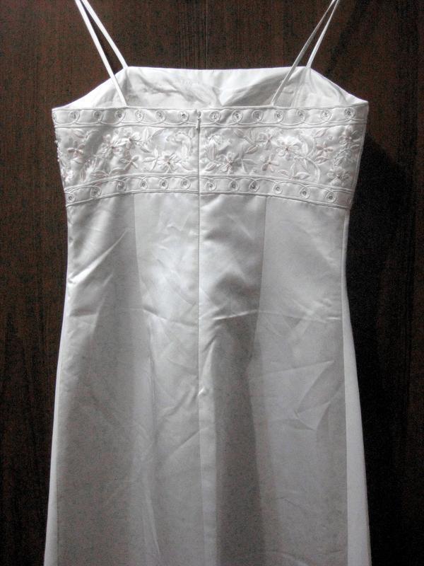 Платье yve london usa fassion белое длинное макси свадебное вы... - Фото 5