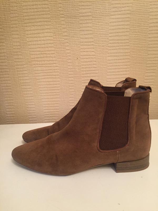 Стильные замшевые песочные ботинки zara!