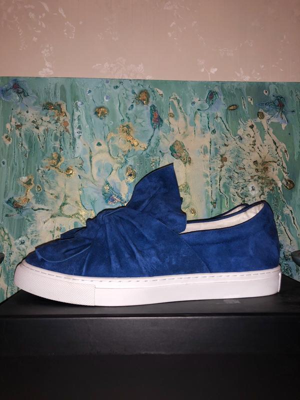 Модные синие замшевые слипоны attizzare!
