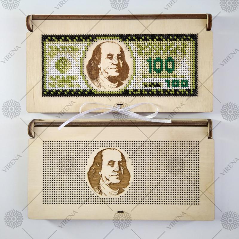 Коробка-конверт для грошей під вишивку бісером