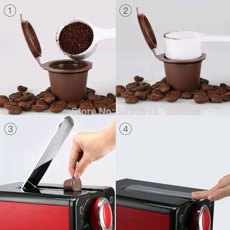 Многоразовая капсула для кофемашин nespresso кофе капсулы