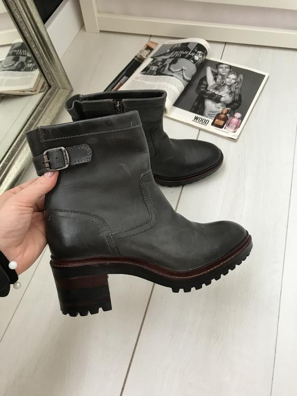 Ботинки на удобном каблуке napapijri 37 p оливковые - Фото 7