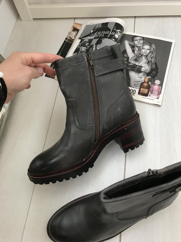 Ботинки на удобном каблуке napapijri 37 p оливковые - Фото 8
