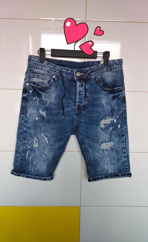 Шорты джинсовые бриджи