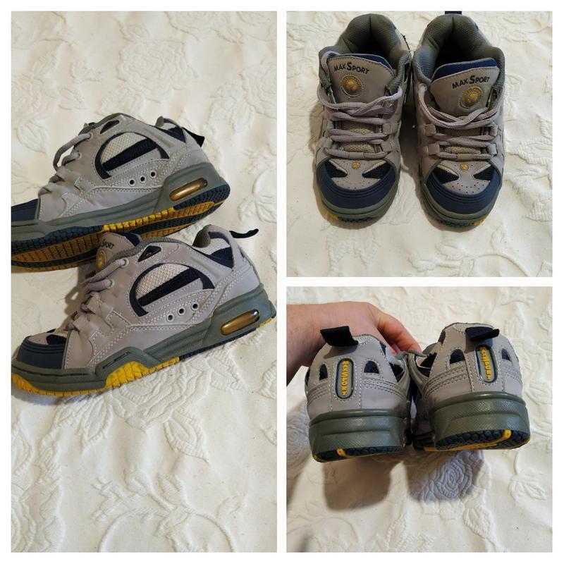 Качественные демисезонные кроссовки max sport, стелька 22