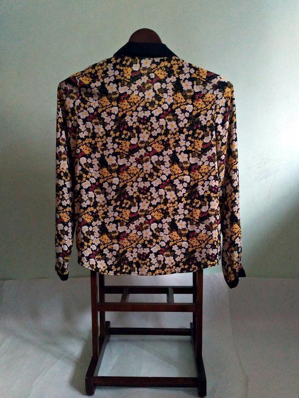 Блуза в цветочный принт - Фото 3