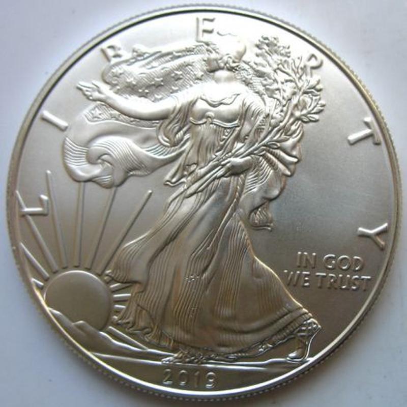 Срібний долар США унція 31,1 грам 999 проба - Фото 2