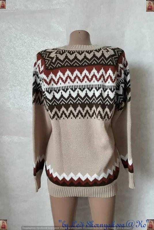 Новый красивый свитер/кофта  в  орнамент с v-образным вырезом,... - Фото 2