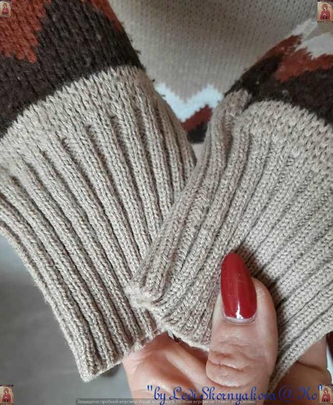 Новый красивый свитер/кофта  в  орнамент с v-образным вырезом,... - Фото 6