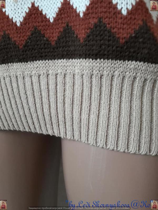 Новый красивый свитер/кофта  в  орнамент с v-образным вырезом,... - Фото 7
