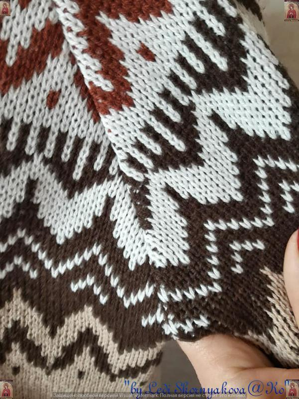 Новый красивый свитер/кофта  в  орнамент с v-образным вырезом,... - Фото 8