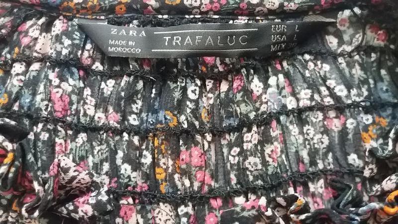 Стильная шифоновая блуза zara l---46-48 размер. - Фото 2