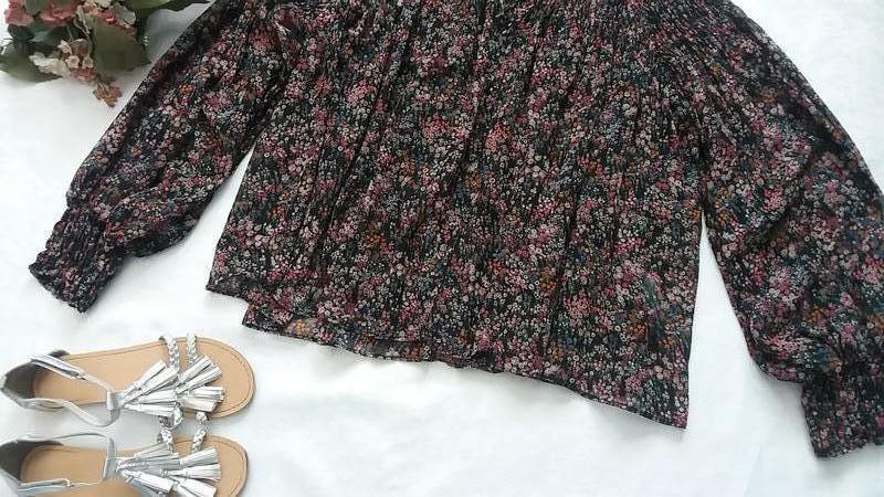 Стильная шифоновая блуза zara l---46-48 размер. - Фото 3