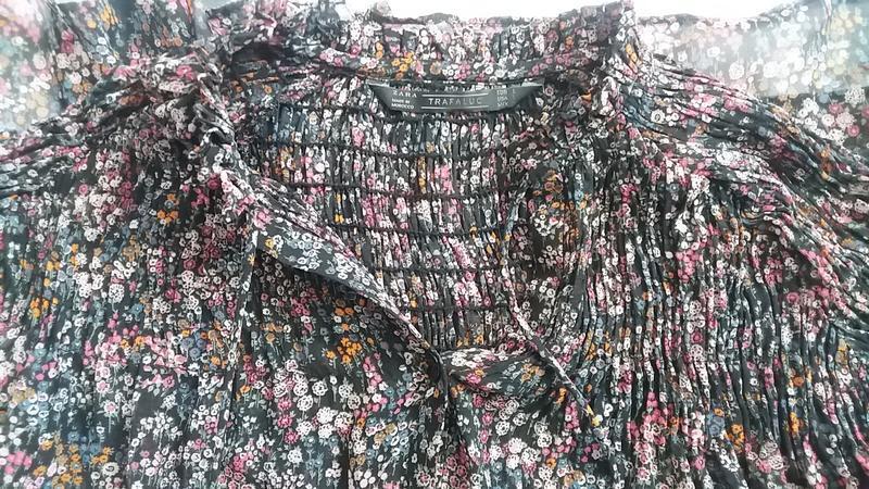 Стильная шифоновая блуза zara l---46-48 размер. - Фото 4