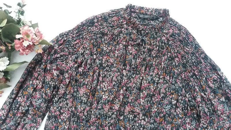 Стильная шифоновая блуза zara l---46-48 размер. - Фото 5