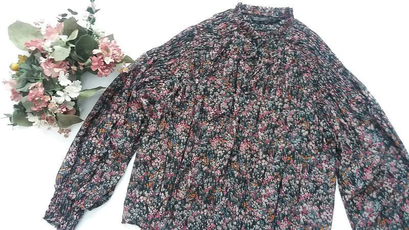 Стильная шифоновая блуза zara l---46-48 размер. - Фото 7