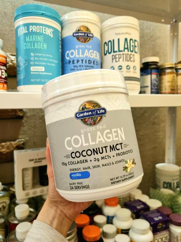 Garden of Life, чистый коллаген, кокосовые MCT, 420г