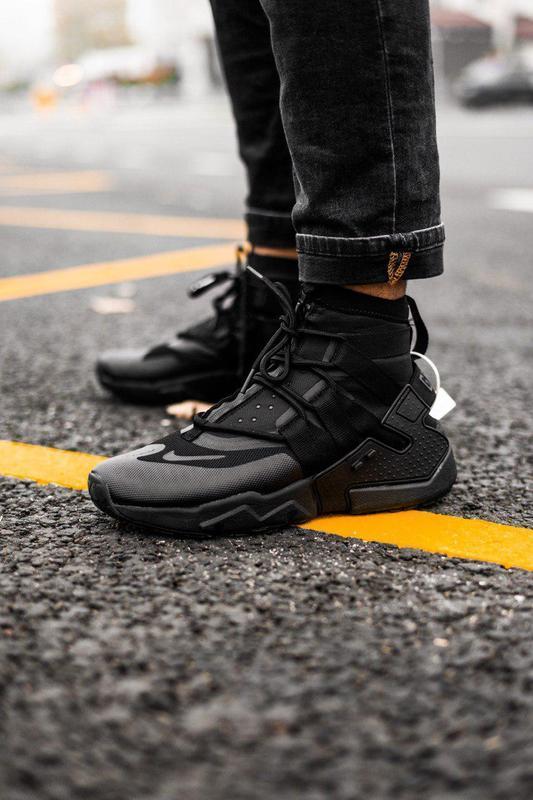 Шикарные мужские кроссовки nike huarache gripp triple black 😍 ...