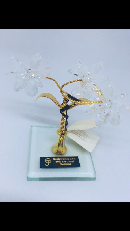 Дерево с кристаллами сваровски ангора голд 515