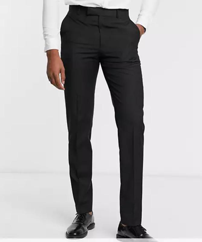????1+1=3 базовые новые мужские черные брюки штаны 45% шерсть, ра...