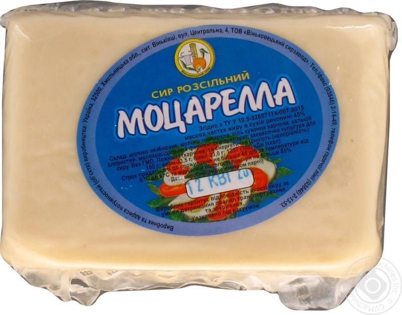 Сыр моцарелла, твердые сыры в ассортименте