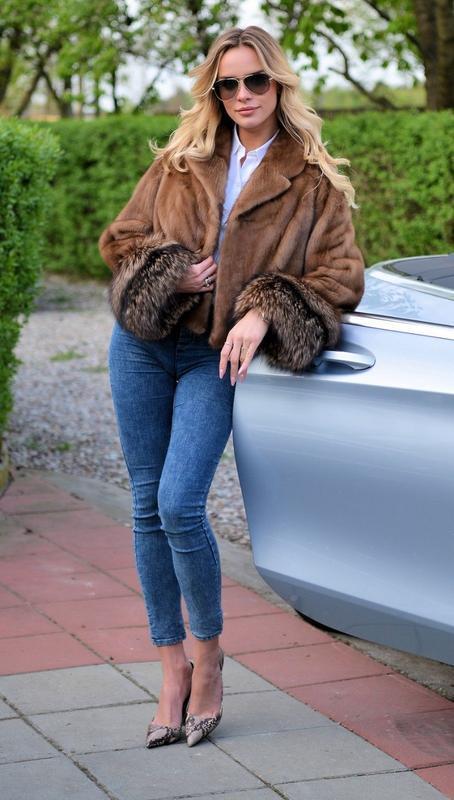 Норковая шуба шикарная автоледи! цвет соболь! комбинация меха - Фото 3