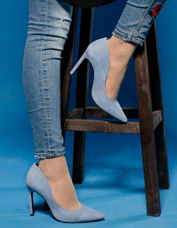 Премиум качество от h&m небесно голубые туфли лодочки 38,5-39 ...