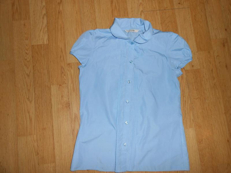 Блуза-рубашка на девочку 11-12 лет классическая ,школьная george