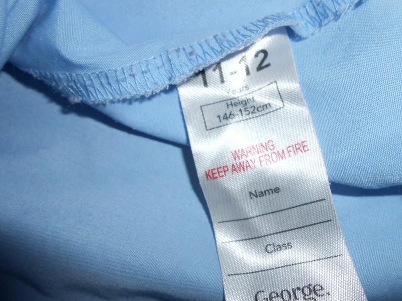 Блуза-рубашка на девочку 11-12 лет классическая ,школьная george - Фото 4