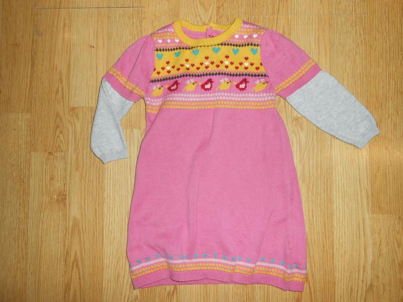 Платье на малышку 9-12 мес