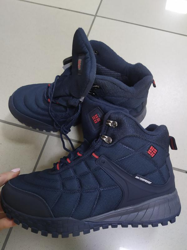 Мужские термо ботинки кроссовки синие  много разных