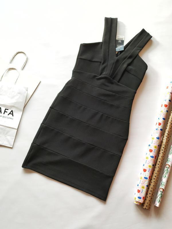 Черное бандажное платье next tall новое с биркой