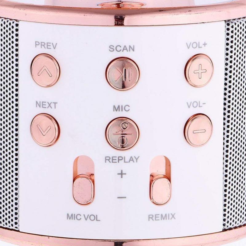 Беспроводной портативный микрофон для караоке WS858 Rose-Gold - Фото 5