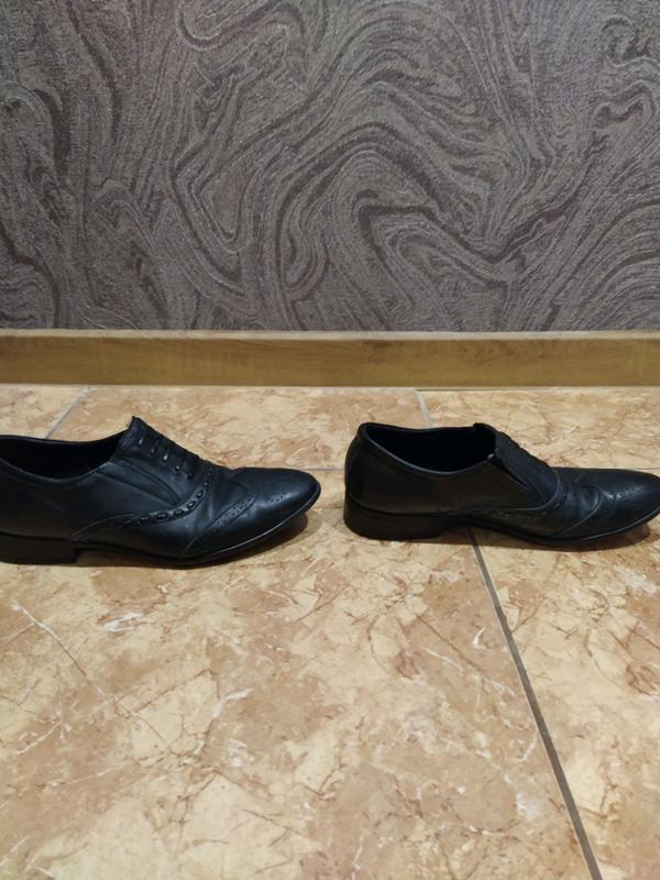 Туфли кожаные 39 размер - Фото 2