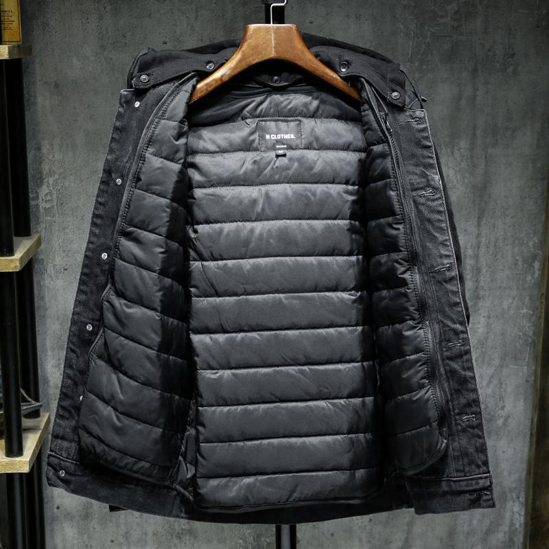 Осенняя/весенняя джинсовая куртка со съемным утеплением с капюшон - Фото 2